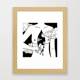 Open Up Hurts Framed Art Print