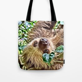 Painted Sloth Tote Bag