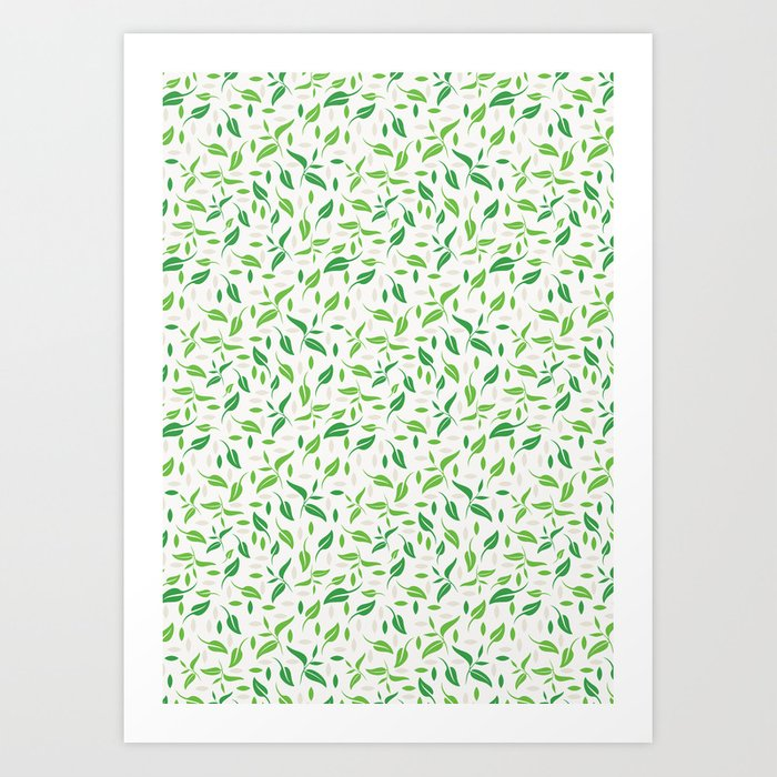 Tea Leaves Pattern Art Print