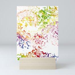 Rainbow Blot 01 Mini Art Print
