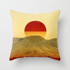 Warm abstraction Throw Pillow