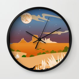 Monument Moon 2 Wall Clock