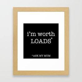 ask mum Framed Art Print