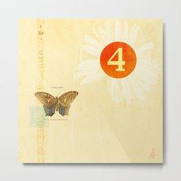 4 oclock butterfly  Metal Print