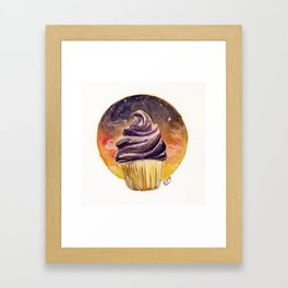 Sunset Cupcake Birthday Card Framed Art Print