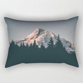 First Light on Mount Hood Rectangular Pillow