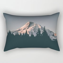 First Light on Mount Hood Rectangular Pillow