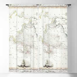 The Voyages of Captain James Cook (1852) by James Cook Blackout Curtain