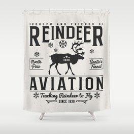 Reindeer Aviation - Christmas Shower Curtain