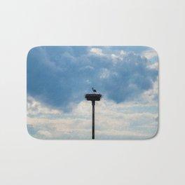 A Stork among the Clouds Bath Mat