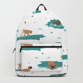 waterdogs pattern Backpack