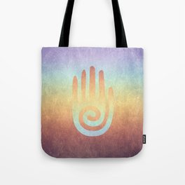 Spiral Hand Rainbow Tote Bag