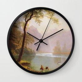 Albert Bierstadt - The Kern River Valley Wall Clock