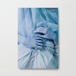 blue hands (rochelle) Metal Print