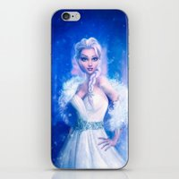 frozen elsa iPhone & iPod Skins featuring Elsa by Joe Roberts
