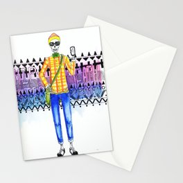 Hipster Death Stationery Cards