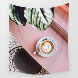 pink latte Wall Tapestry