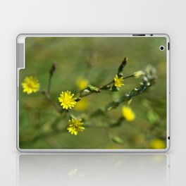 Golden flowers by the lake 2 Laptop & iPad Skin