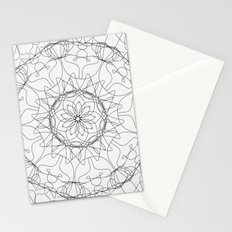 the fountain - floral mandala Stationery Cards