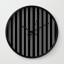 Black and white modern stripe pattern 06 Wall Clock
