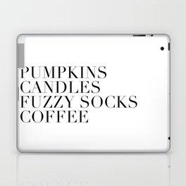 pumpkins candles fuzzy socks coffee Laptop & iPad Skin