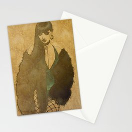 Midnight Woman 1 Stationery Cards