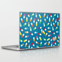 the cure Laptop & iPad Skins featuring Pill cure by  R U A L E G R E