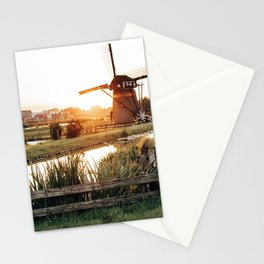 netherland windmill Stationery Cards