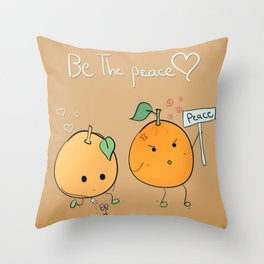 if you want peace be it Throw Pillow