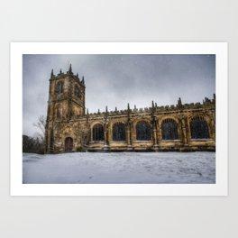 St Marys Winter Scene Art Print