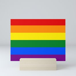LGBT Pride Flag (LGBTQ Pride, Gay Pride) Mini Art Print