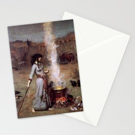 The Magic Circle by John William Waterhouse Stationery Cards