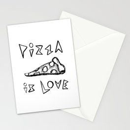 Pizza is Love Stationery Cards