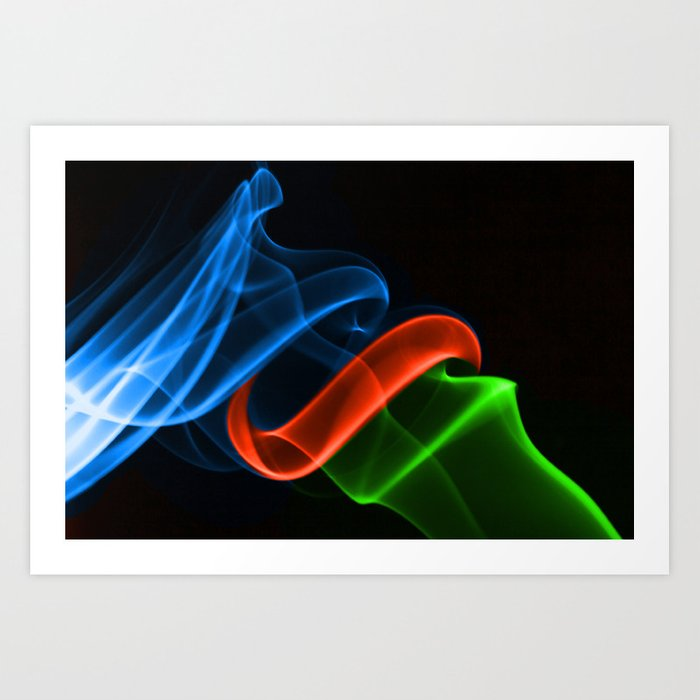 Smoking Colors Art Print