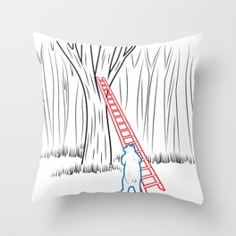 DA BEARS - CLIMBING Throw Pillow