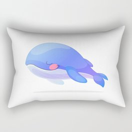 Cute whale. Vector graphic character Rectangular Pillow