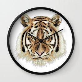 Stylized Tiger Portrait Wall Clock