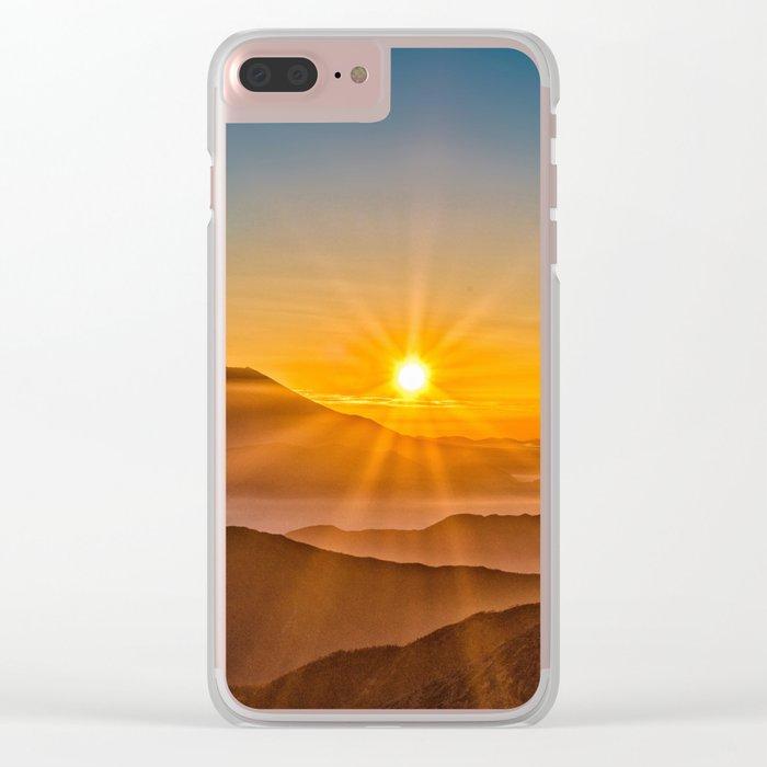 Mt Fuji II Clear iPhone Case