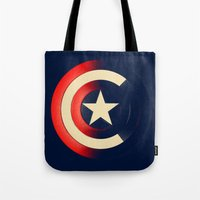 captain swan Tote Bags featuring Captain by Ian Wilding