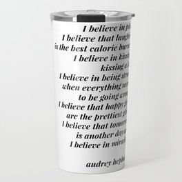 Audrey Hepburn quote Travel Mug