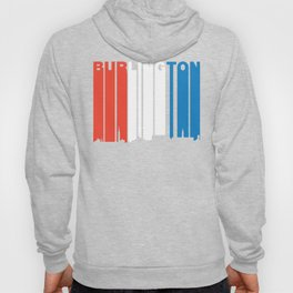 Red White And Blue Burlington Vermont Skyline Hoody