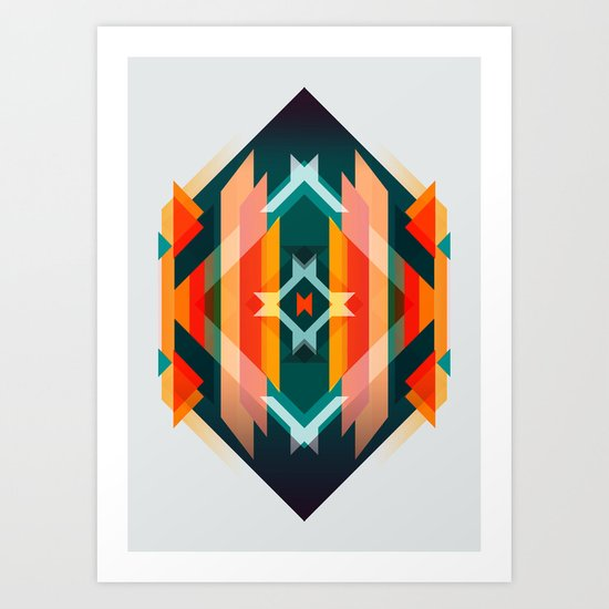 Broken Diamond - Incalescence Art Print