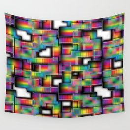 Puzzled Plaid Wall Tapestry