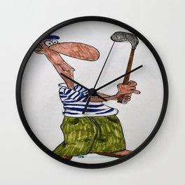 golfer Wall Clock