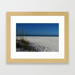 A Peaceful Day At A Marvelous Gulf Shore Beach Framed Art Print