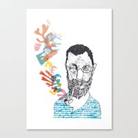 matisse Canvas Prints featuring Matisse by Le Hello