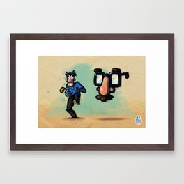 Use Verb on Noun #10: Zak McKracken and the Alien Mindbenders Framed Art Print