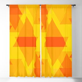 Bright yellow and orange large triangles in the intersection and overlay. Blackout Curtain