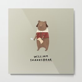 William Shakesbear Metal Print