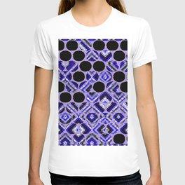 DECORATIVE  PURPLE & BLACK ABSTRACT ART T-shirt